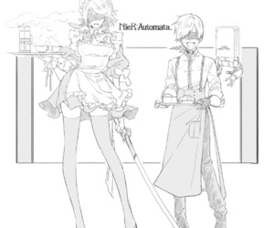 2b, 9s, and nier automata image