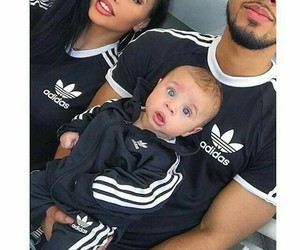 family, adidas, and happy image