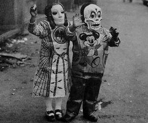 Halloween, kids, and black and white image