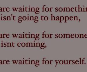 quotes, waiting, and words image