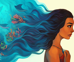 disney, moana, and art image