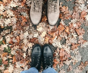 autumn, best friends, and boots image