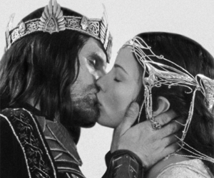 aragorn, arwen, and lord of the rings image