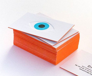 business cards, cards, and eyeball image