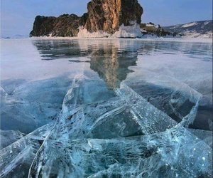 ice, frozen, and winter image