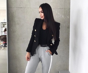 black, outfit, and beautiful image