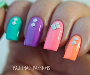 colorful, manicure, and many colors image