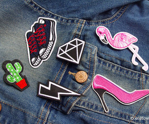 etsy, shoes for women, and pink patches image
