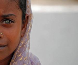girl, green eyes, and eyes image