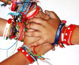 Braclets, frienship, and peace image