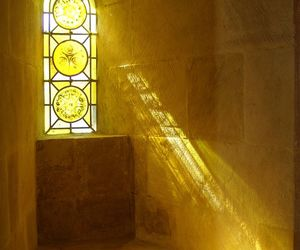light, window, and yellow image