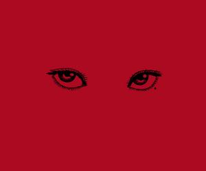 aesthetic, cartoon, and eyes image