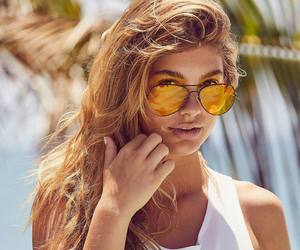 girls, glasses, and models image