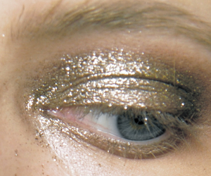 gold, glitter, and make up image