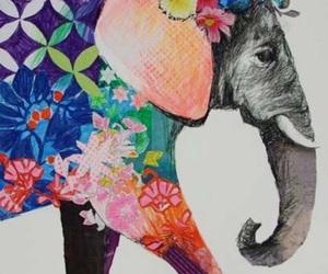 art, illustration, and elephant image