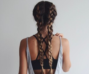 braids, girls, and hair style image