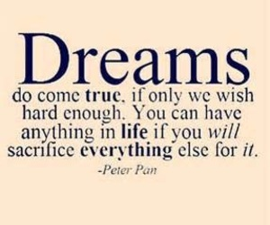 Dream, quotes, and peter pan image