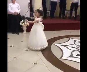 dance, little girl, and wedding image