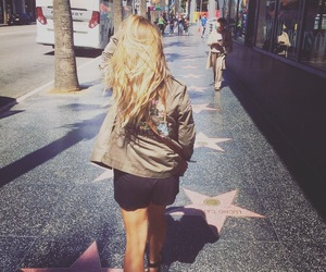 california, hollywood, and street image