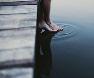water, feet, and grunge image