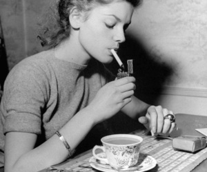 cigarette, black and white, and vintage image