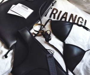 triangl, fashion, and bikini image