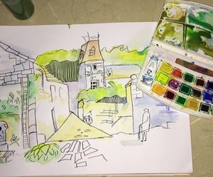 art, drawings, and paint image