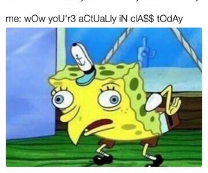 meme, funny, and spongebob image