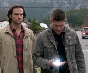 dean winchester, god, and sam winchester image