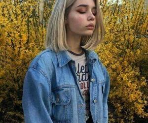 girl, aesthetic, and yellow image