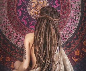 hippie, yoga, and good vibes image