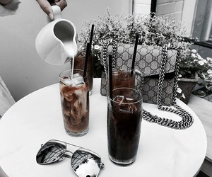 drinks, fashion, and coffee image