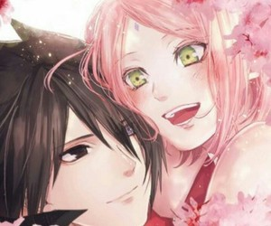 sasusaku, anime, and couple image