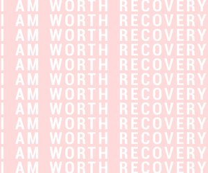 pink, recovery, and quote image
