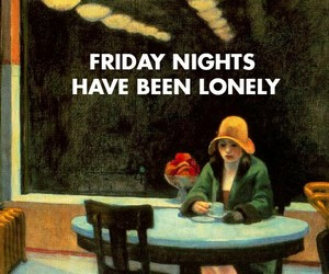 lonely, art, and alone image