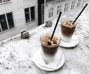 drink, coffee, and marble image