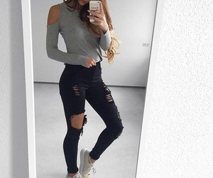 clothes, iphone, and outfit image