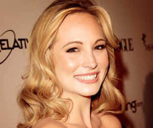 candice accola, tvd, and caroline forbes image