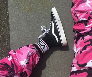 vans, camo, and old skool image