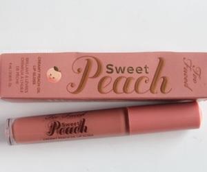 cosmetics, lips, and peach image