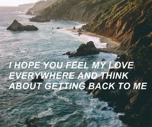 feel, love, and back image