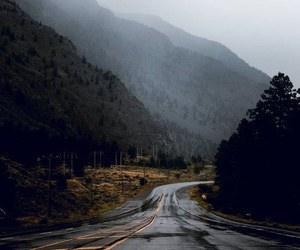 adventure, fog, and road image