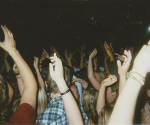 party, concert, and hands image