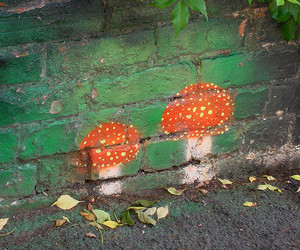 draw, mushrooms, and wall image