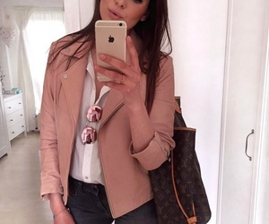 brunette, clothes, and fashion image