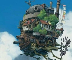 ghibli, howl's moving castle, and studio ghibli image