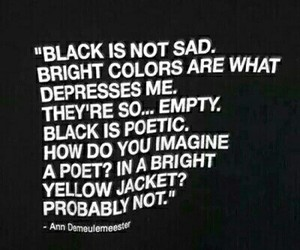 black, quote, and sad image