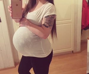 baby, belly, and happiness image