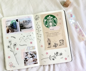 aesthetic, art journal, and pastel image