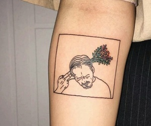 tattoo, flowers, and indie image